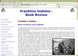 Click to read Jerry Hatfield's review of the Franklin book